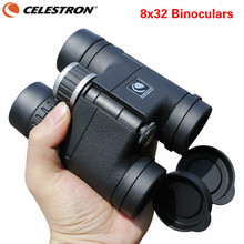 Best price Celestron 8×32 Compact Binoculars for Bird Watching HD Military Telescope for Hunting and Travel with strap High Clear Vision