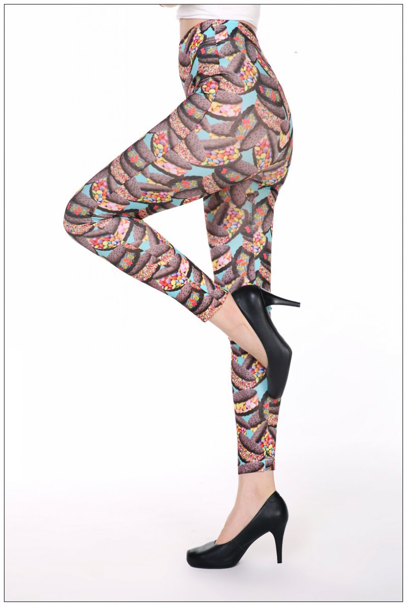 Print slim shape Yoga Pants Women Unique Fitness Leggings Workout Sports Running Leggings Sexy Push Up Gym Wear Elastic trousers in Yoga Pants from Sports Entertainment