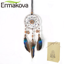 ERMAKOVA Dream Catchers Handmade Traditional Dreamcatcher Circular Net Car Kids Bed Room Wall Hanging Ornaments(China)