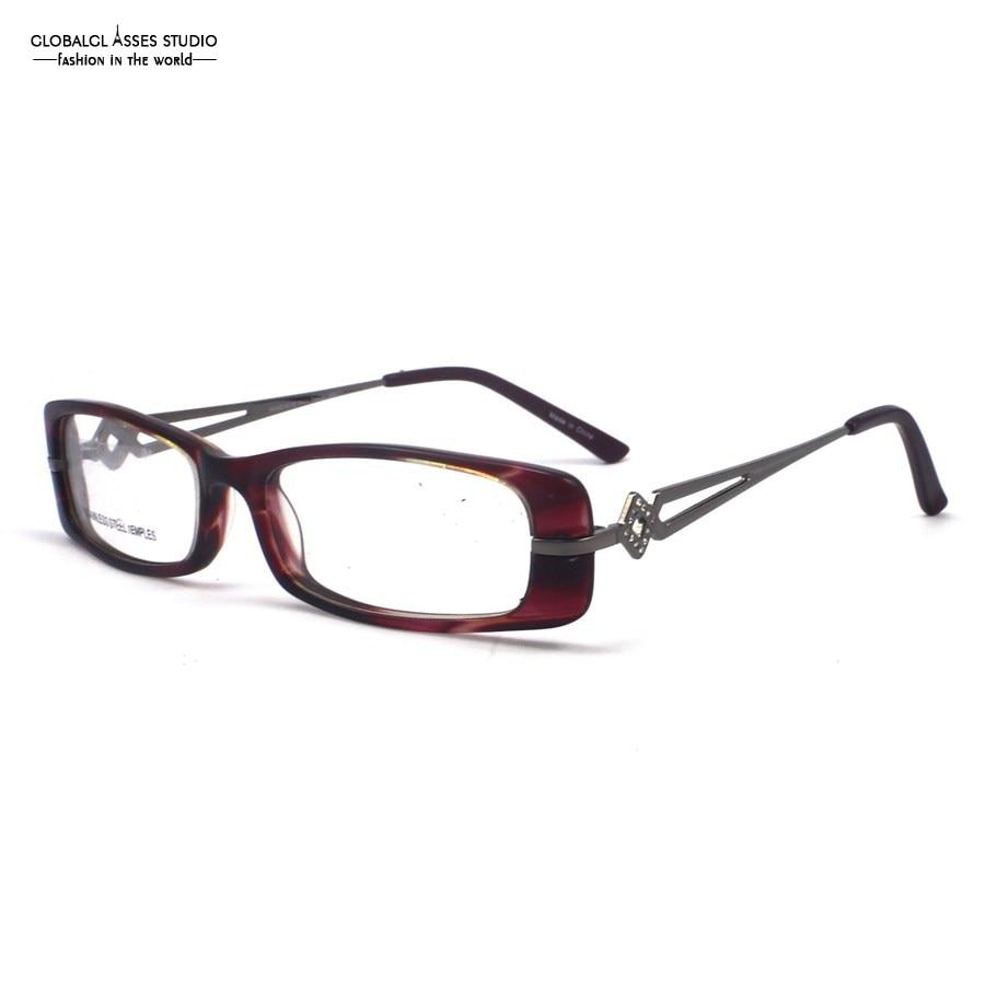 popular modern glasses framesbuy cheap modern glasses frames lots  - modern female wine red color hollowout temple with shiny diamond parisdesign full