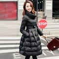 Nuevo 2016 ropa de maternidad invierno abajo chaqueta de Cintura para abajo 90% pato blanco downfashion ocio