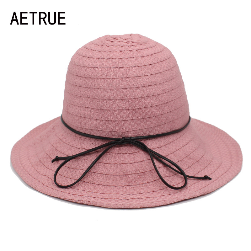 Aetrue Mode Sommer Hüte Für Frauen Sonnenhüte Für Frauen Floppy Straw Weibliche Strand Panama Faltbare Krempe Visiere Breiter Krempe Kappe Auf Der Ganzen Welt Verteilt Werden