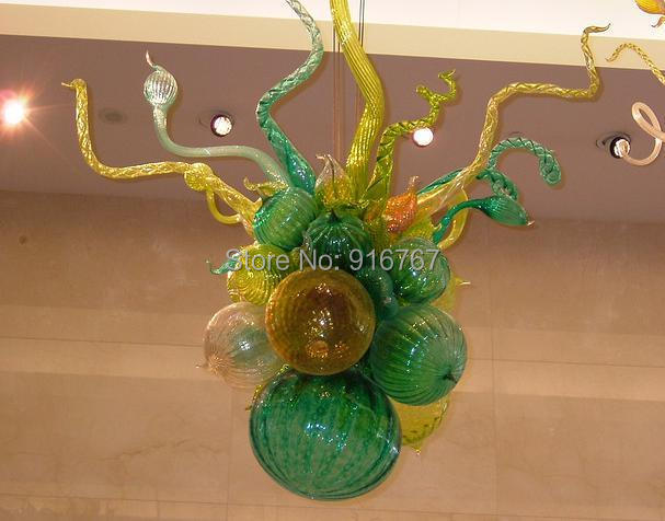 Free Shipping Hand Blown Glass Romantic Corridor Light Lotus Flower Chandelier