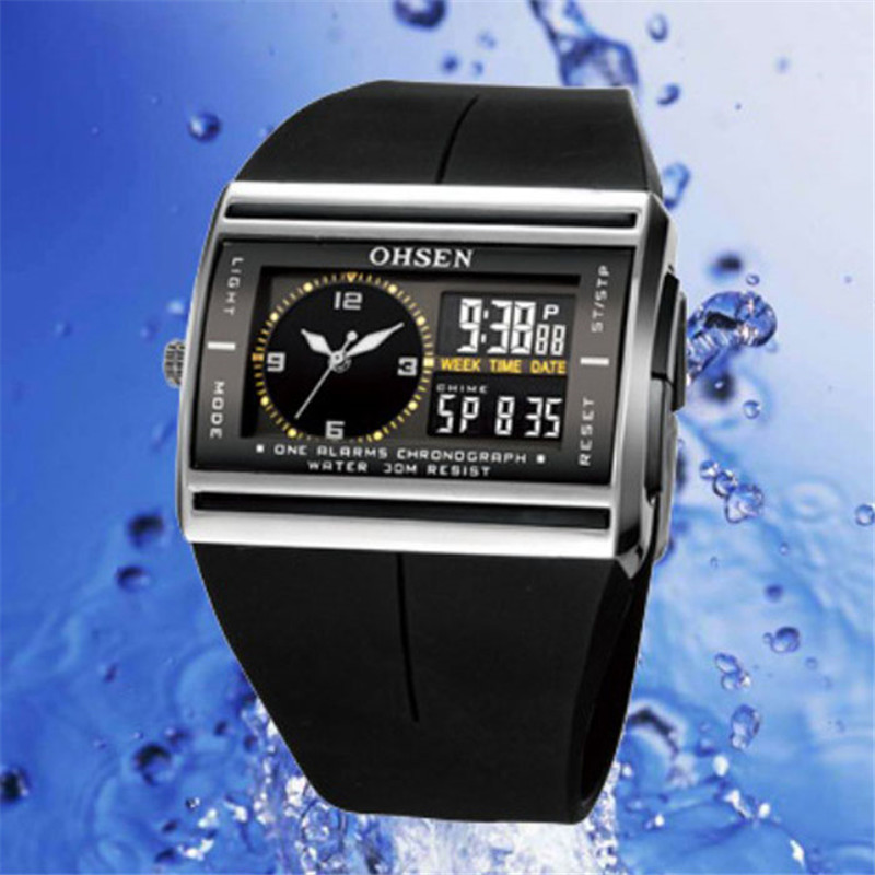 Waterproof Digital LED Mens Sports Watches Relogio Masculino 2018 Hot Men Silico