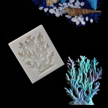 Dxry Blue Sea Style Coral Seaweed Silicone Mold Cake Decorating Tools Sugar Fondant Chocolate Mold Bakeware Baking Gadgets