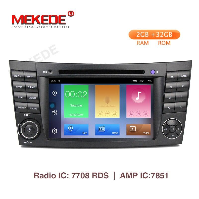 MEKEDE Dois Din Car Multimedia Player Android 9.1 Jogador DVD Para Mercedes/Benz/E-Classe/W211 /E300/CLK/W209/CLS/W219 GPS Rádio