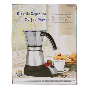 Image 3 - Кухонная мини Кофеварка электрическая автоматическая кофемашина кофейник 6 чашек эспрессо Перколятор мокко чайник бытовой