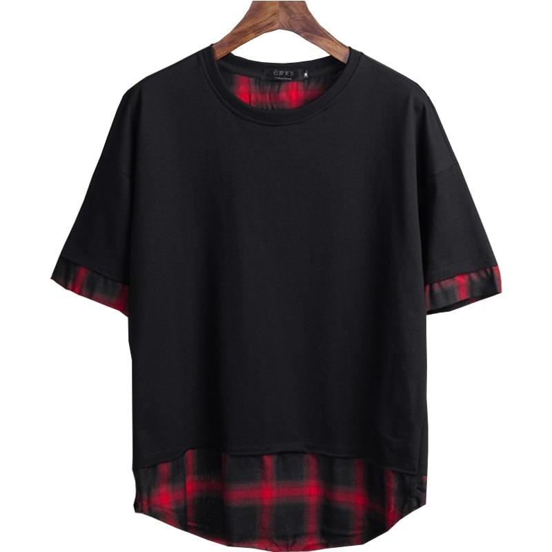 clothes funny t shirts 2XL 7xl 8XL o neck t shirt Tees Patchwork fat guy plus size men's Casual short sleeve T shirt 150kg