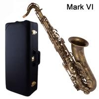 Retro Saxophone Tenor Selm Mark VI Bb Flat Antique copper Sax Saxofone Professional musical instrument Accessories mouthpiece