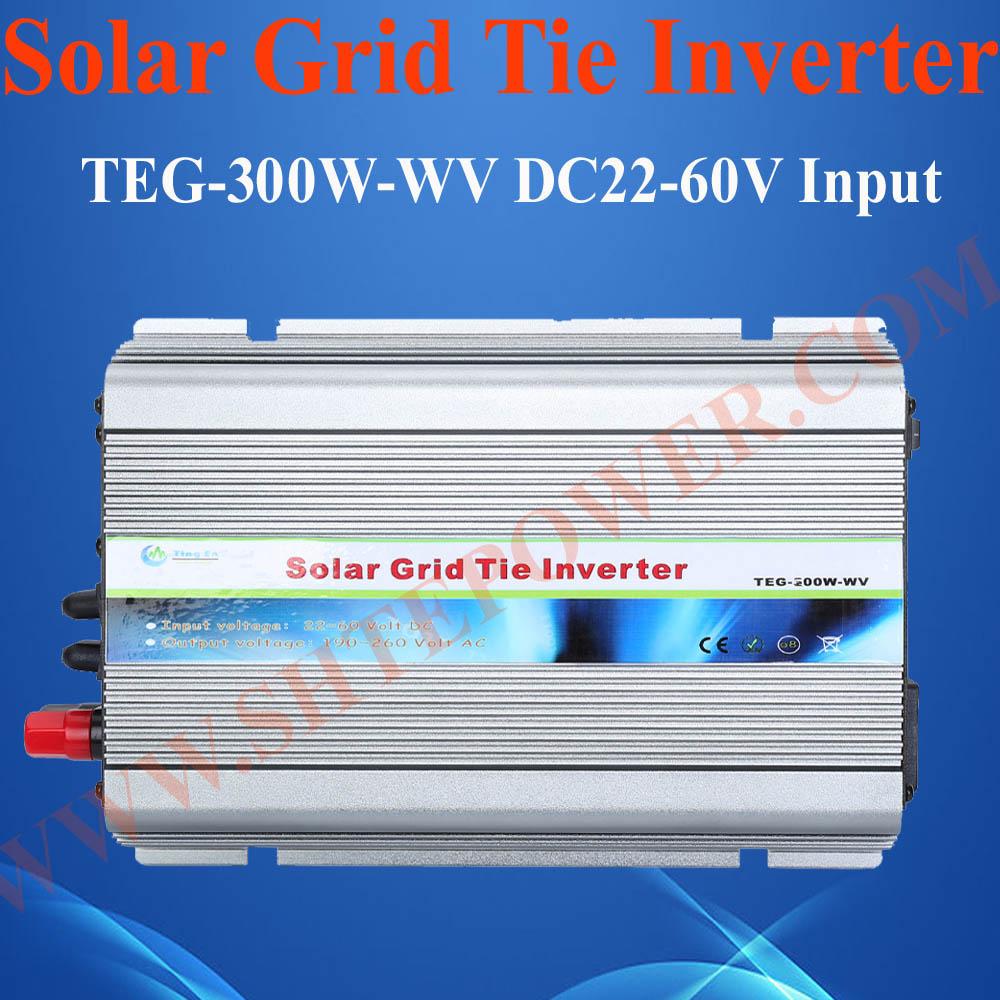 300W solar grid tie inverter , DC22V-60V TO AC230V DC converter solar power on grid tie mini 300w inverter with mppt funciton dc 10 8 30v input to ac output no extra shipping fee
