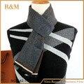 Люксового бренда мужчин зимой шарф акриловые шарф письмо шаблон шарфы для подарка бесплатная доставка