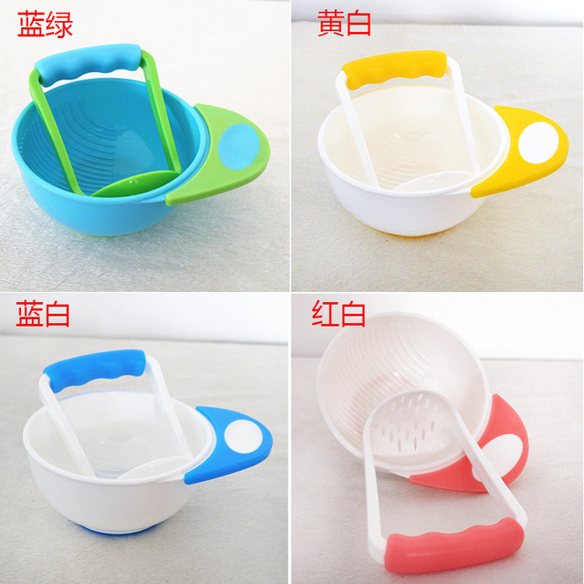 Baby Food Mills Sets Kids Learning Dishes Baby Food Mills Mother Helper For Baby Food Feeder Cutting Maker Grind Bowl Feeding