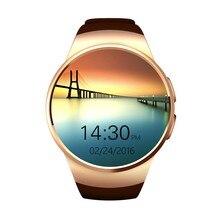 Kingwear kw18บลูทูธsmart watchโทรศัพท์สนับสนุนซิมการ์ดtfอัตราการเต้นหัวใจmonitor s mart w atchสำหรับapple android ios