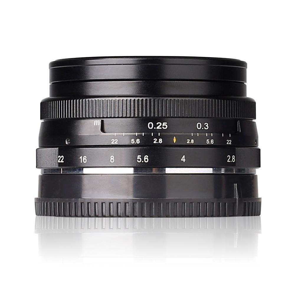 Original Black Meike MK-E-28-2.8 28mm f/2.8 fixed manual focus lens for Sony E mount Mirrorless for A5100 A6000 A6300 metco meike mk f af3 fuji микро сингл крупным планом кольцо