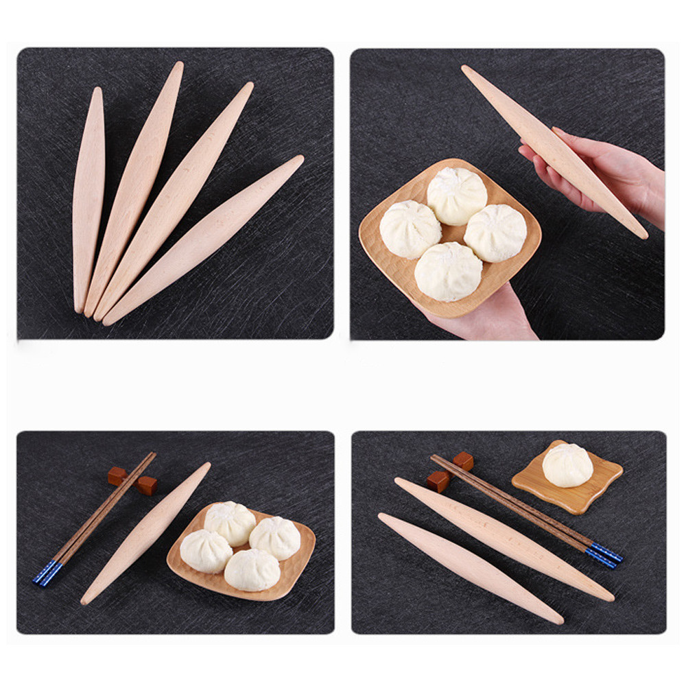Solid Wood Rolling Pin Beech No Paint No Wax Noodle Dumpling Dough Pressure Stick rolling pastry wood Confectionery Roller