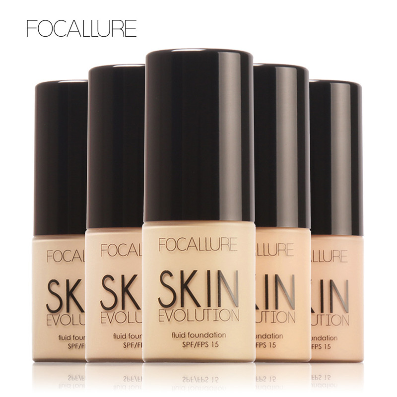 FOCALLURE Face Foundation Makeup Base Liquid Concealer Moisturizer Oil-control Whitening Waterproof Professional Cosmetics image