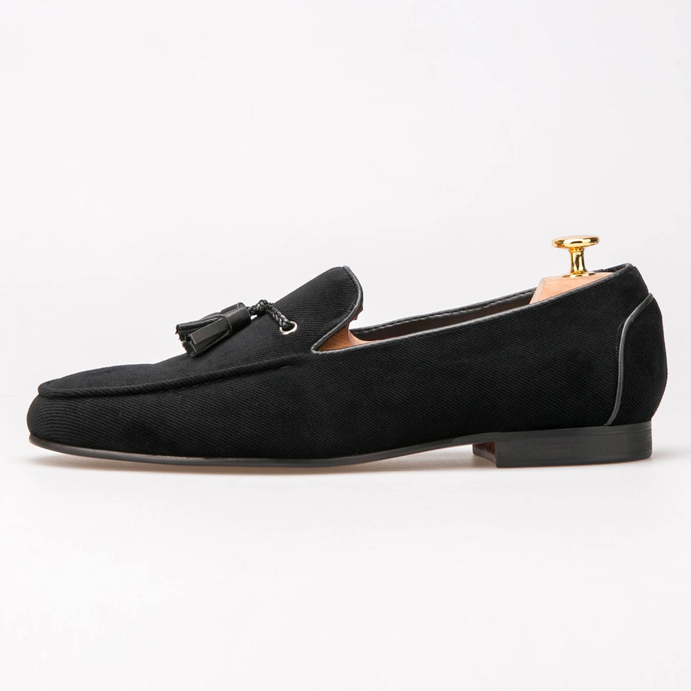 Cotton Men Shoes With Leather Tassels Men Loafers Men Wedding and Party Shoe mens dress shoes oversized cotton round beach towels with tassels