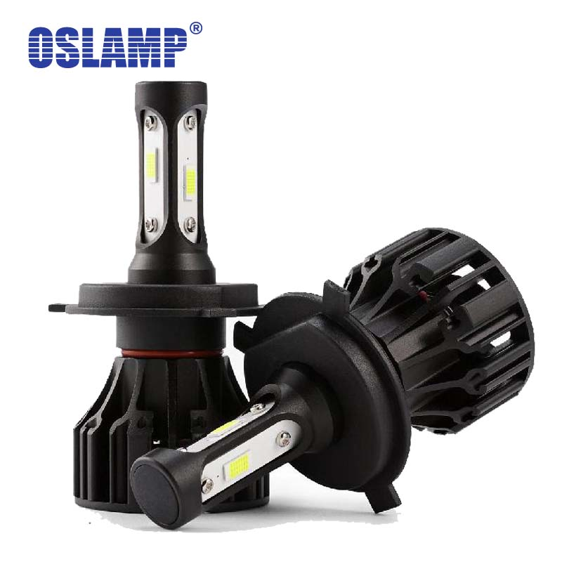 Oslamp H4 Led Car Headlight 72W 8000LM Hi-Lo COB LED Lamp Fog light All in one Auto Headlamp 6000K Light Bulb for Renault Twingo