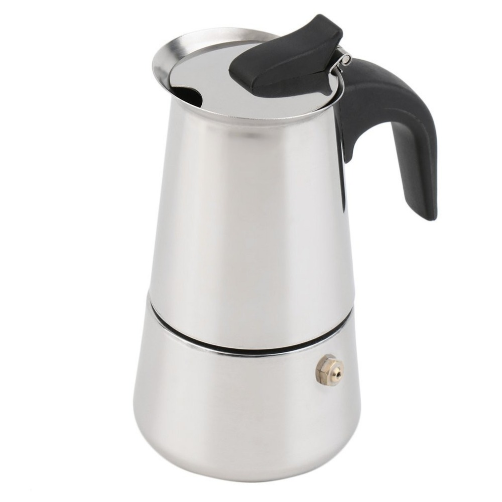 Espresso Coffee Maker 2/4/6-Cup Percolator Stove Top Coffee Maker Moka Espresso Latte Stainless Pot Hot Sales Coffee Baking