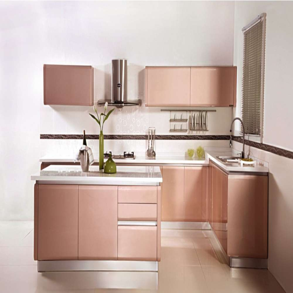 Blanco L En Forma Modular Cocina Despensa Venta en Gabinetes de ...