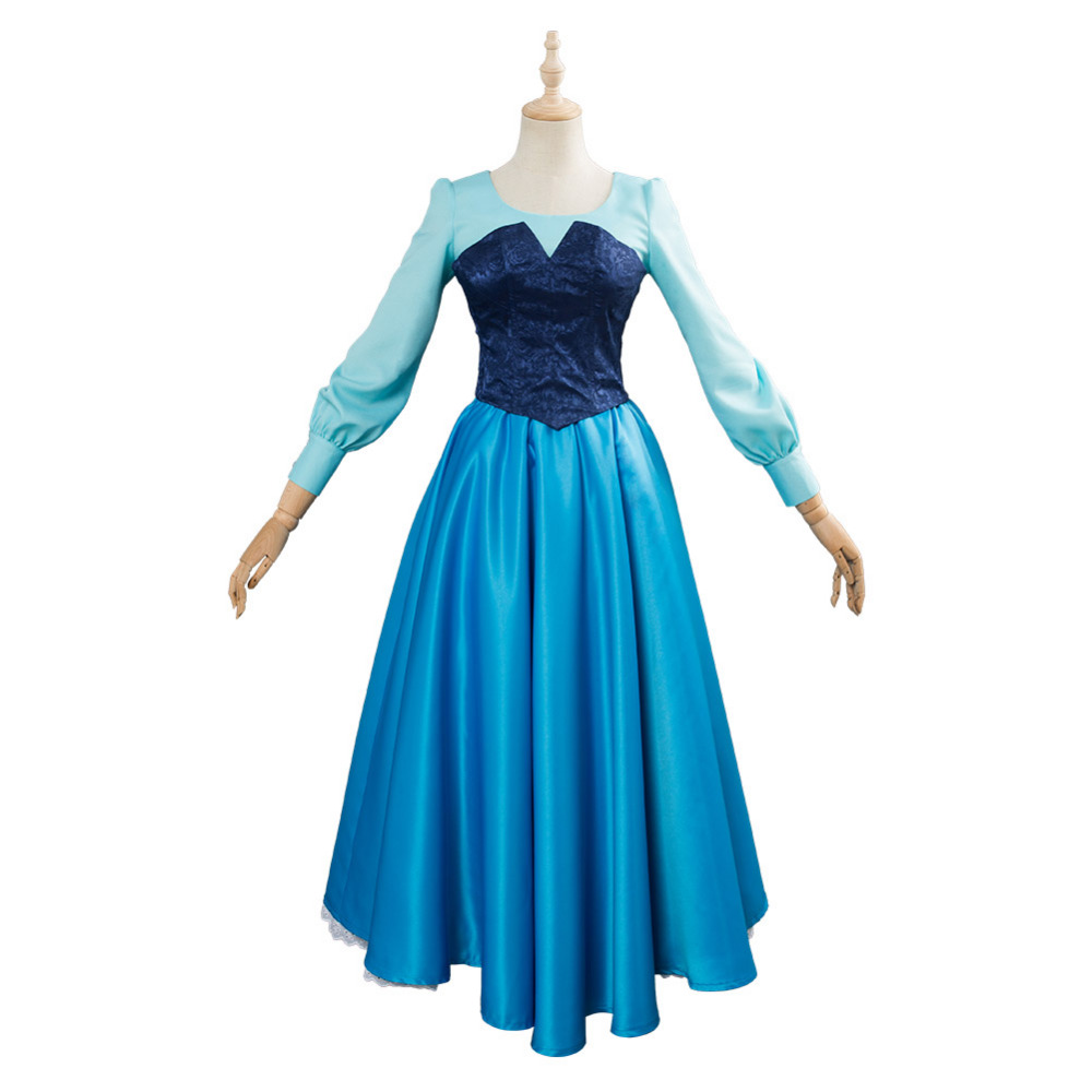 The Little Mermaid Cosplay Costume Princess Ariel Costume Blue Dress Women Suit