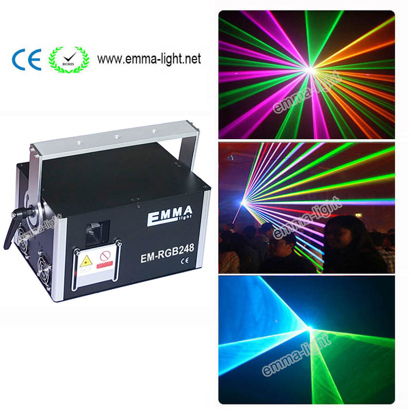 3d 3000 Mw Rgy Dmx512 Laser Scanner Projector Licht Dj Disco Party Xmas Professionele Podium Verlichting Effect Tonen Licht