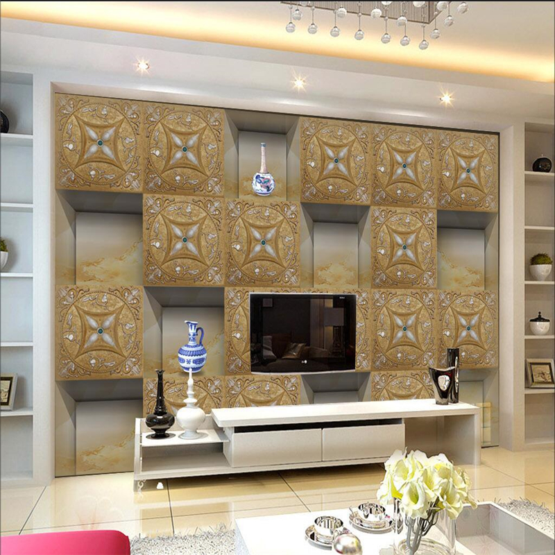 3d Modern Geometric Line Striped Living Room Sofa Tv Background Wall Paper Bedroom Non-woven Wallpaper Decor Papel De Parede 3d Strong Resistance To Heat And Hard Wearing Wallpapers
