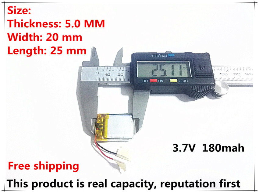3.7v Lithium Polymer Battery 052025 502025 180mah Mp3 Mp4 Mp5 Video Recorder Junsun 7810g Pro Dvr Advocam Recorder Consumer Electronics