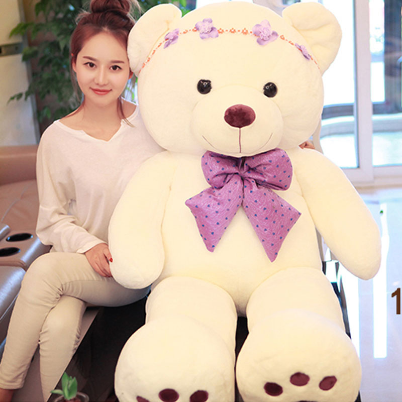 Lovely Bear 140cm Teddy Bear Stuffed And Plush Doll Giant Lovely Bear Tie Bear Plush Teddy Doll Brinquedos For Valentine's Day fancytrader new style giant plush stuffed kids toys lovely rubber duck 39 100cm yellow rubber duck free shipping ft90122
