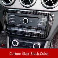ABS Carbon Fiber Style Center Console CD Frame Trim For Mercedes Benz A W176 2013 18 GLA X156 2013 15 CLA C117 2013 18 Class