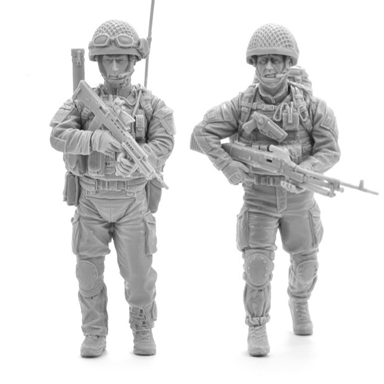 Crazy King1/35 Resin Soldier Model Modern British Army Paratroopers Two GK White Model Hand 357