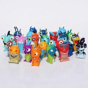 Image 4 - 24 יח\סט חמוד קריקטורה Slugterra PVC פעולה איור צעצועי Juguetes מתנה לילדים