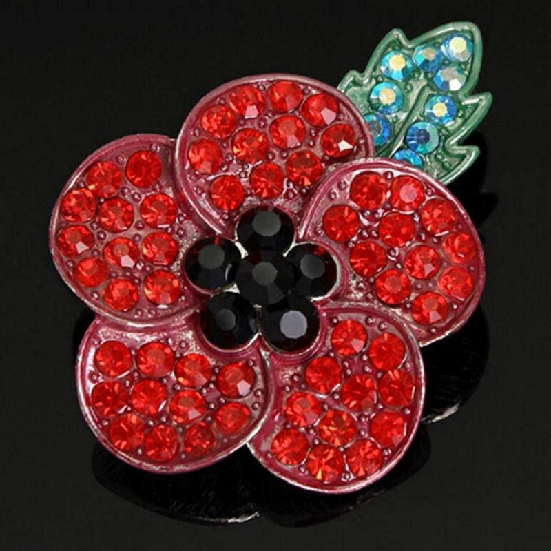 20pcs Red Poppy Brooch Lapel Pin Enamel Badge Ribbon Flowers Green Leaf Lest We Forget Legion Remembrance Day Peace 12 years a slave