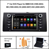 Android 7.1 Quad Core AUTO DVD palyer voor BMW E39 M5 X5 E53 RADIO STEREO 1024X600 HD WIFI/3G + DSP + RDS 16 GB flash