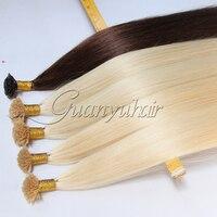 Guanyuhair Pre Bonded Nail U Tip Hair Extensions 18222426 Straight Remy Fusion Hair Nail Keratin Human Hair Extension 100g