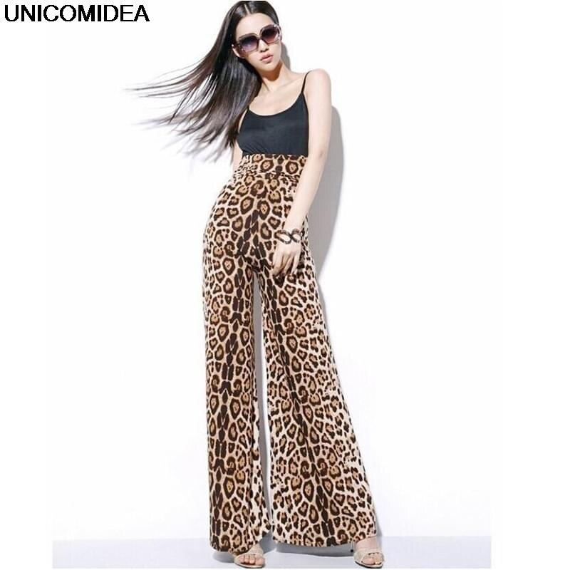 Leopard Print Autumn   Wide     Leg     Pants   Trousers High Waist Women   Pants   Streetwear Loose Jogger Women Bottom Sportswear   Pants   Capris