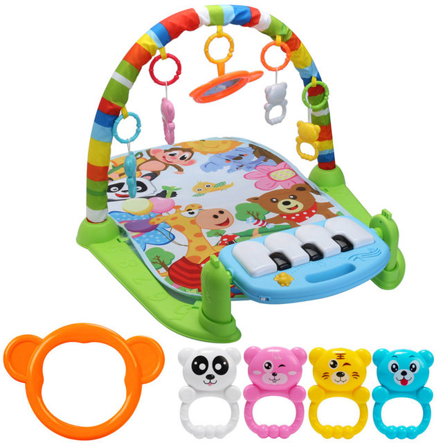 3 in 1 Educational Toys Baby Play Playmat Baby Gym