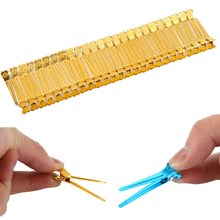 50PCS/Pack  Professional Alloy Plastic Hairdressing Salon Styling Section Hair Grip Clips GUB#