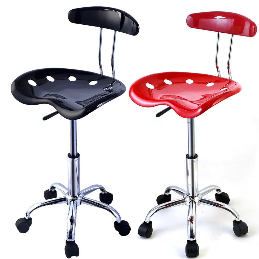 ФОТО Factory direct saling 1PC Adjustable Bar Stools ABS Tractor Seat Swivel Chrome Kitchen Breakfast Black Red  HW48530