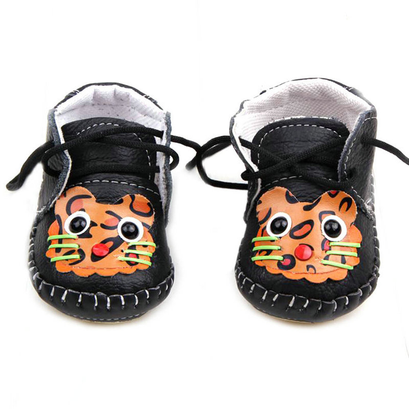 Baby Boy Girl Lace Up Shoes Soft Leather Antislip Toddler Infant Shoes 2018 New