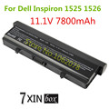 11.1V 7800mAh 9 cells Battery For Dell Inspiron 1525 1526 1545 1546 Vostro 500 C601H D608H M911G X284G RU586 XR693 GP952 GW240