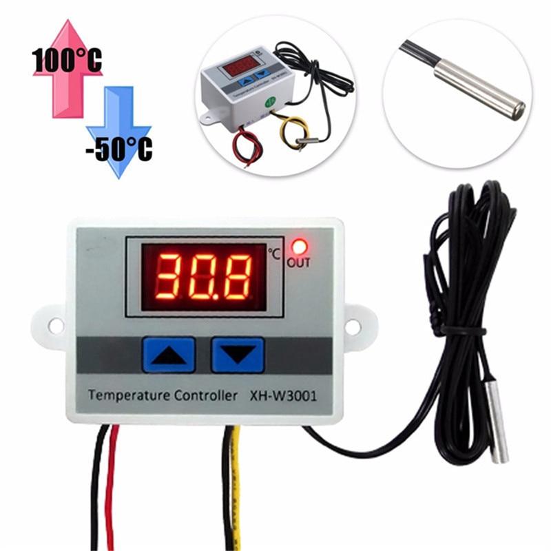 XH-W3001 220V 10A Digital LED Temperature Controller Thermostat Control Switch Probe 220v 12v 24v digital led temperature controller thermostat switch probe sens r06 drop ship