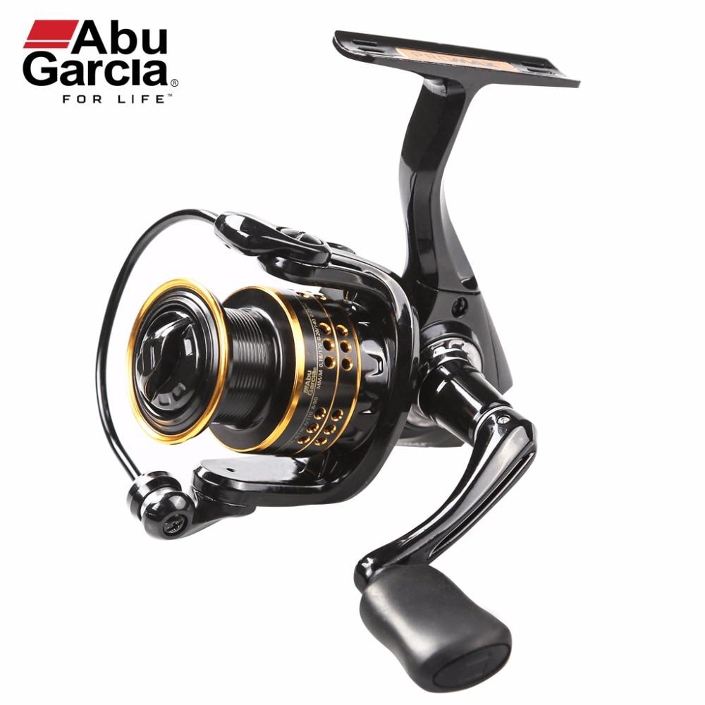 100% ABU GARCIA 6 +1 Ball Bearings PRO MAX SPINNING 500 ,1000 ,2000,3000,4000 Series Fishing Reel Machined Aluminum Spool 2017 new abu garcia 100