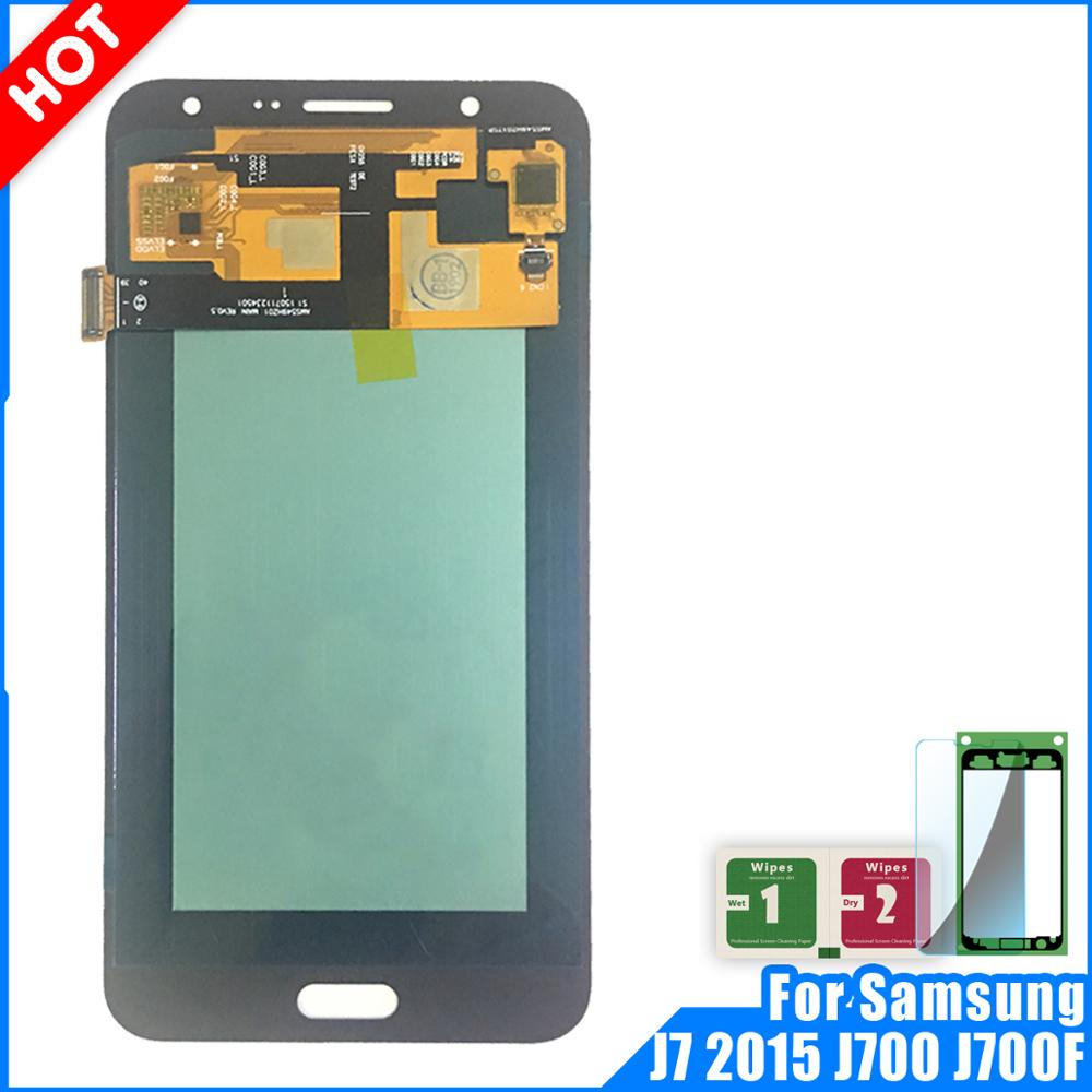 Super Amoled LCD For Samsung Galaxy J7 2015 J700 J700F J700H Display Touch Screen Digitizer Assembly Replacement J700 LCDSuper Amoled LCD For Samsung Galaxy J7 2015 J700 J700F J700H Display Touch Screen Digitizer Assembly Replacement J700 LCD