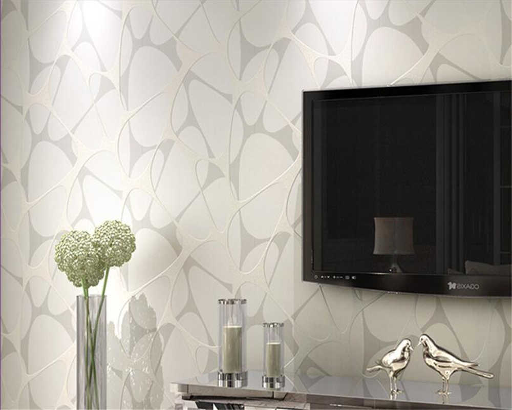 Beibehang Green wallpapers modern simple pearl set silver nest nest wallpaper bedroom living room TV wall mural 3d wallpaper