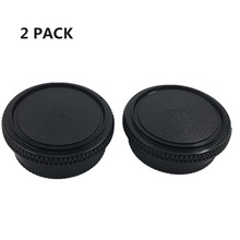 LXH 2 Pack Front Camera Body Cap and Rear Lens Cap Cover for Canon FD,Body Cap/Rear Lens Cap For Canon Camera