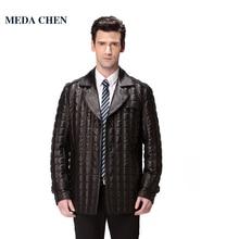 Best Seller leather-based jacket males,Genuine Leather,Mandarin Collar,Sheepskin,Man coat,males's jacket,Men's down jacket,model clothes