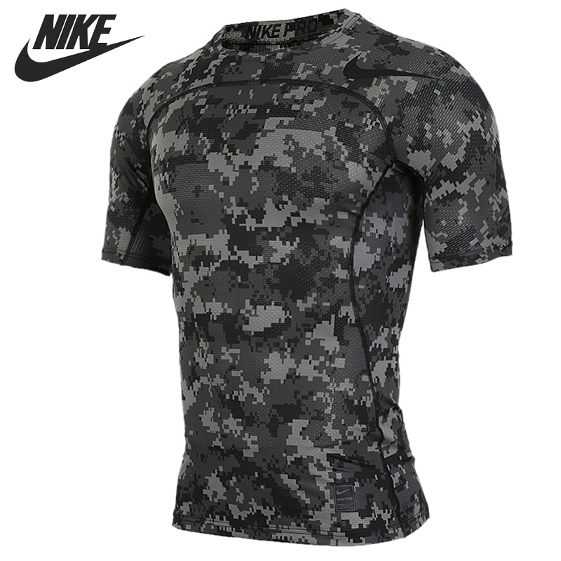 Original New Arrival NIKE AS M NP HPRCL TOP SS COMP D CA Men's T-shirts short sleeve Sportswear original new arrival 2017 nike as m np hprwm top ls comp men s t shirts long sleeve sportswear
