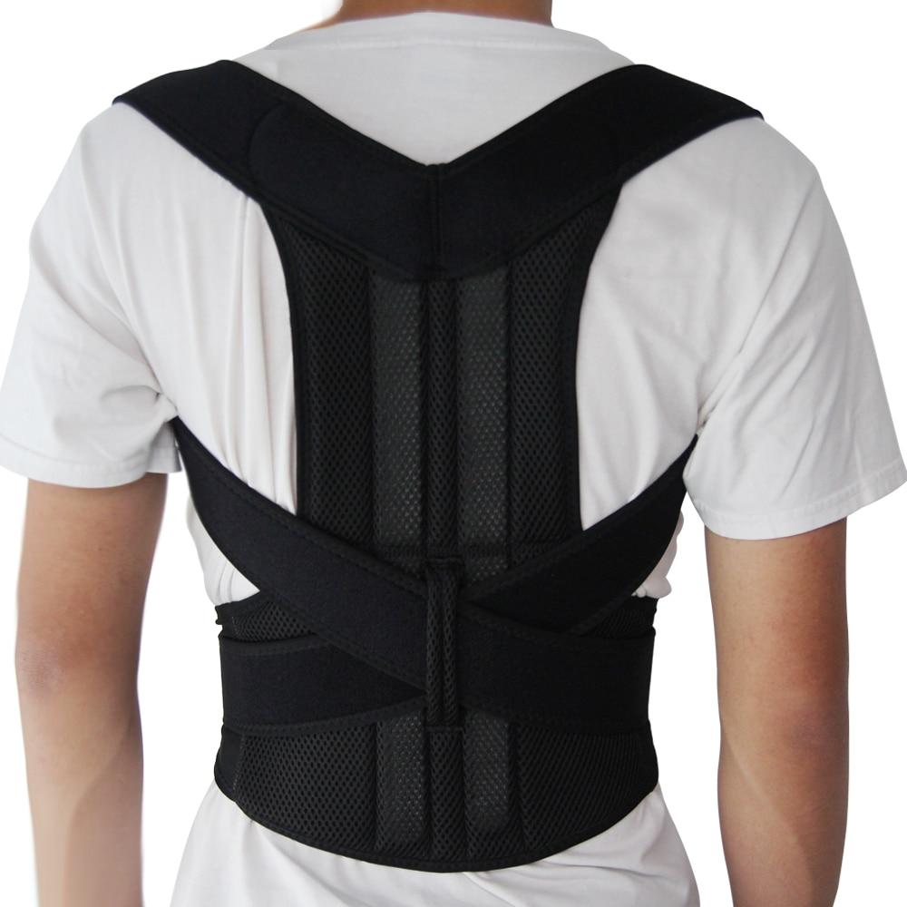 Ajustable Corrector postura apoyo hombro Lumbar apoyo corsé cinturón para los hombres