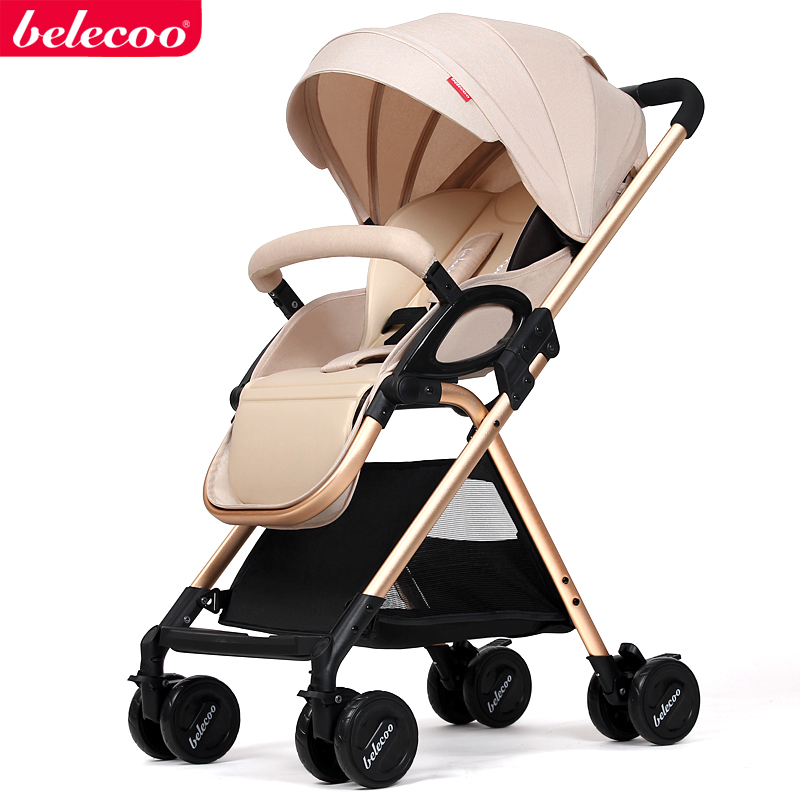 Babysafe Baby Stroller Can Sit Can Lie Ultra Light Folding Shock Absorber Hand Push Umbrella Carts 0-3 Years Old light foldable baby stroller 3 in 1 cozy can sit and lie lathe umbrella car stroller carry bag 4 colour three wheels single seat
